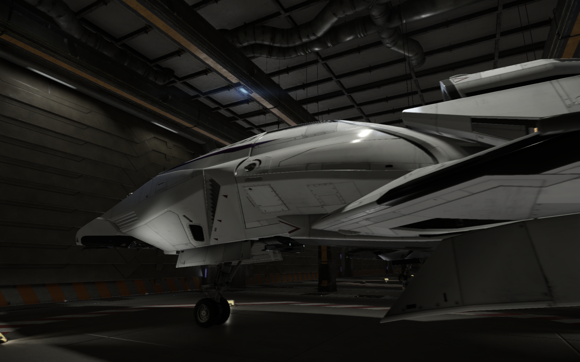 Star Fighter in hangar bay