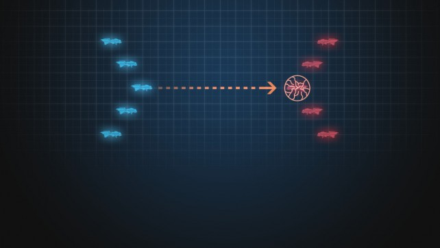 CONFUSION FIRE Confusion Fire Skill incapacitates an enemy fleet for a specific period.