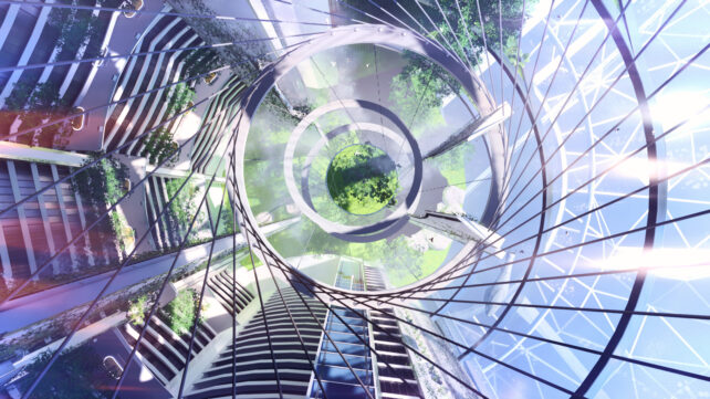 Impressive glass architecture